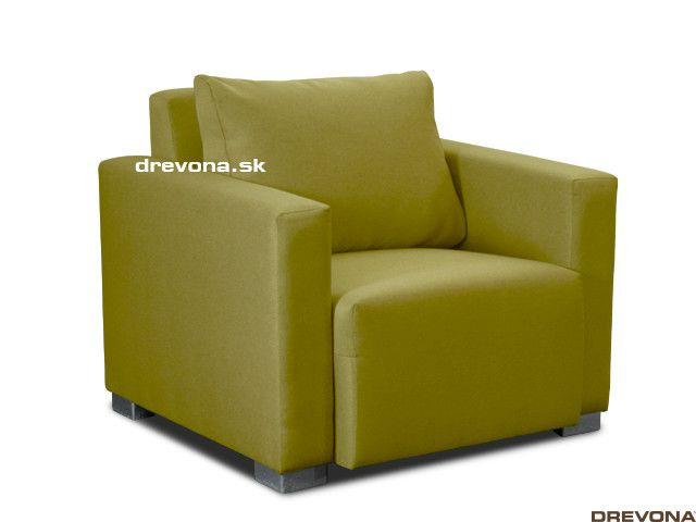 Fotela zelená látka STACY