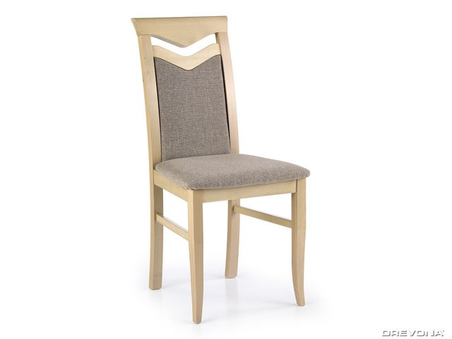 Jedálenská stolička drevená dub sonoma hnedo-béžová CITRONE Inari 23
