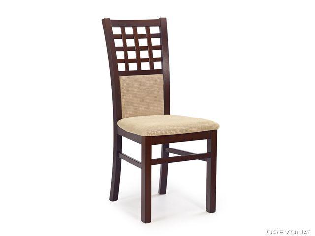 Jedálenská stolička drevená tmavý orech a béžová Torent beige GERARD 3