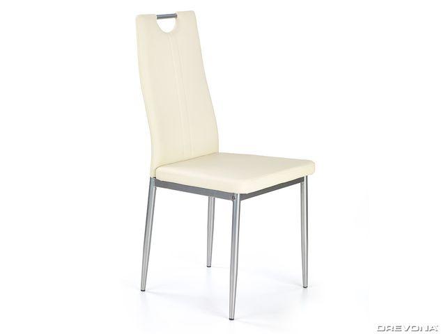 Jedálenská stolička krémová K202