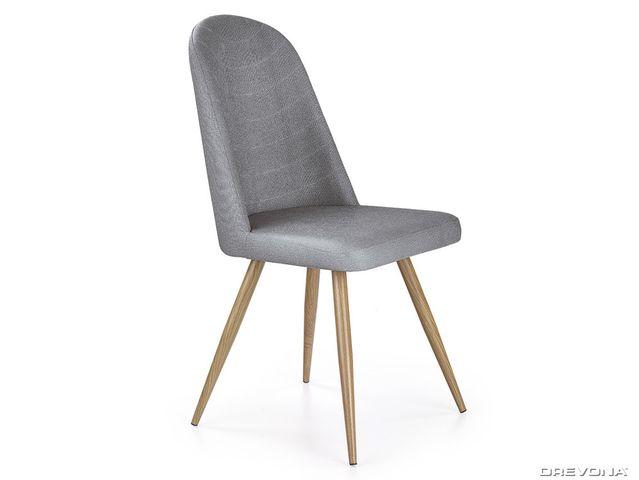 Jedálenská stolička šedá K214