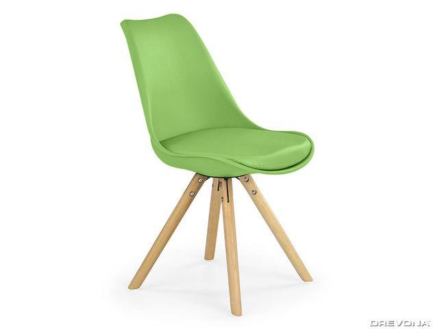 Jedálenská stolička zelená K201
