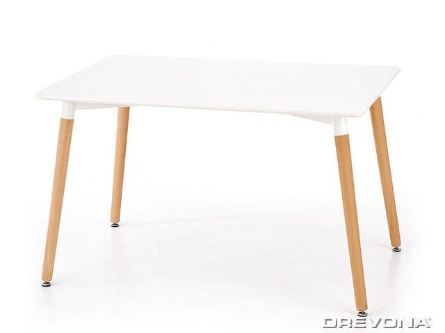 Jedálenský stôl 120 x 80 biely SOCRATES