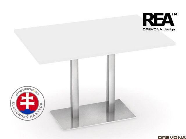 Jedálenský stôl 120 x 80 biely REA FLAT 2