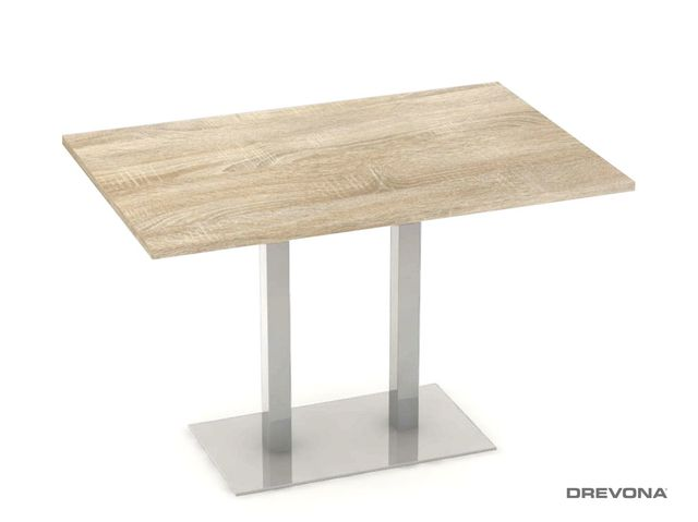 Jedálenský stôl 120 x 80 dub bardolíno FLAT 2