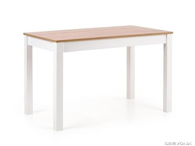 Jedálenský stôl dub bardolíno biely KSAVER