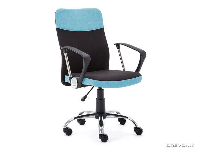 Kancelárska stolička čierno modrá TOPIC
