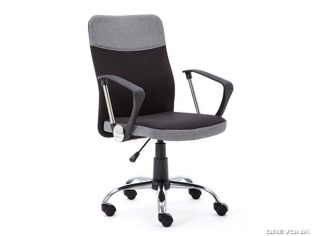 Kancelárska stolička čierno šedá TOPIC