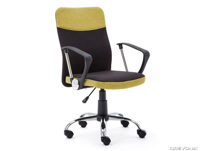 Kancelárska stolička čierno zelená TOPIC