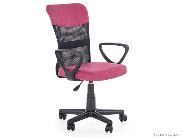 Detská pracovná stolička ružová TIMMY