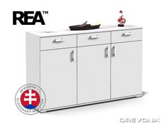 Klasická komoda biela REA SISA 8