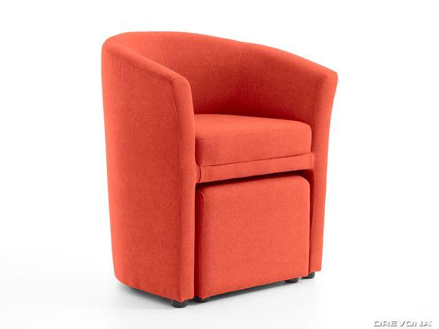 Klubové kreslo oranžové HOLGER I Soro 51