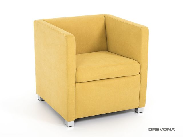 Klubové kreslo žlto zelené AVA NATY Soro 40