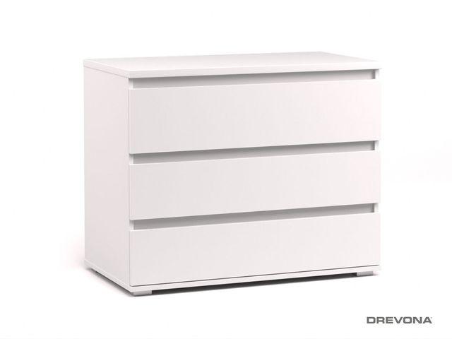 Komoda 3x zásuvka biela REA AMY 2