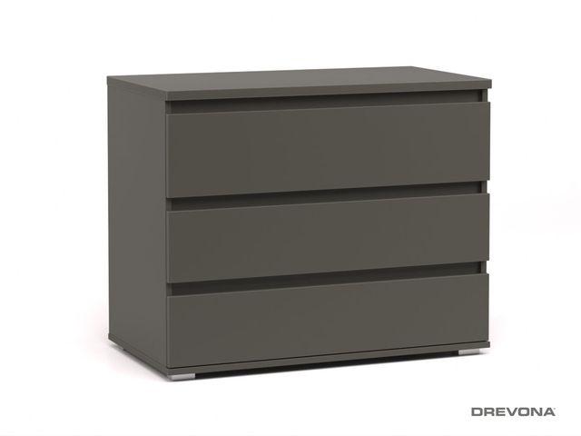 Komoda 3x zásuvka šedá grafit REA AMY 2