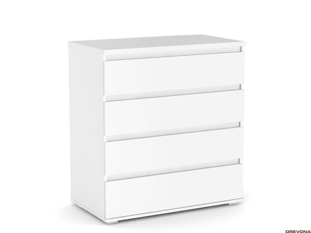 Komoda 4x- zásuvka biela REA AMY 3