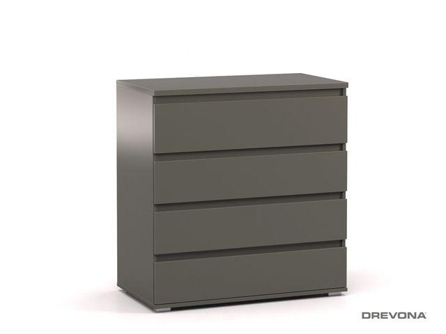 Komoda 4x- zásuvka šedá grafit REA AMY 3