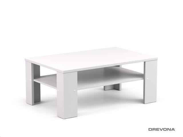 Konferenčný stolík biely REA 3