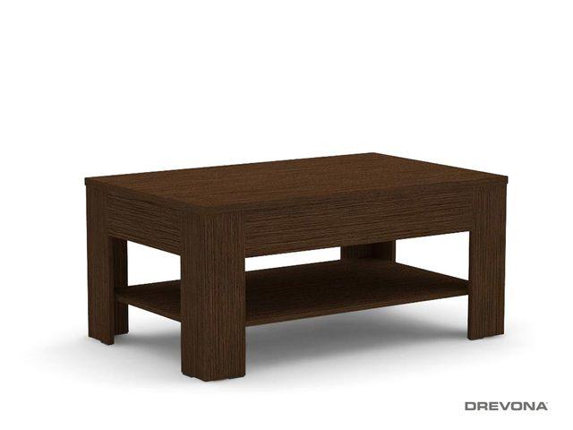 Konferenčný stolík so zásuvkou wenge REA 7