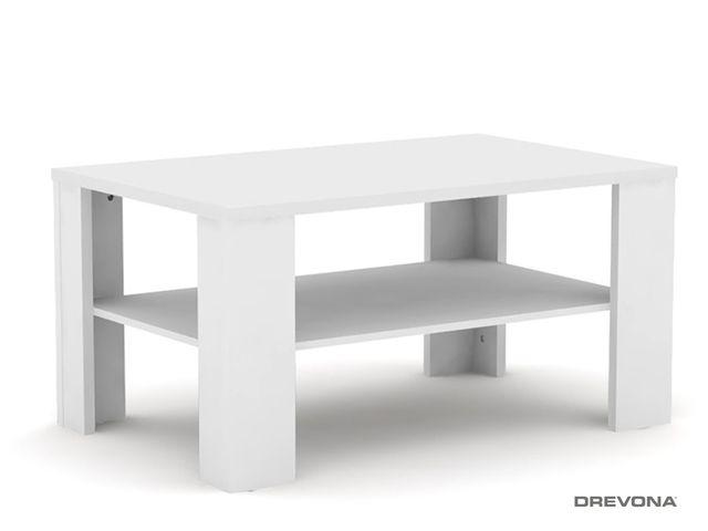 Konferenčný stolík vysoký biely REA 3v