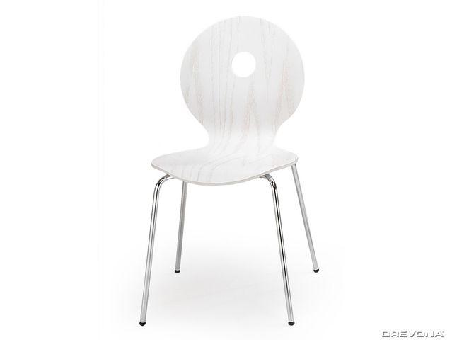 Kuchynská stolička biela K233