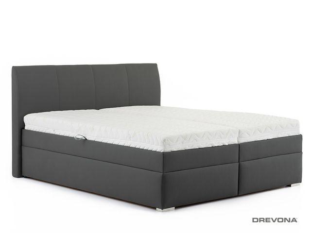 Manželská posteľ 160 cm šedá LIPARI 2, MO5