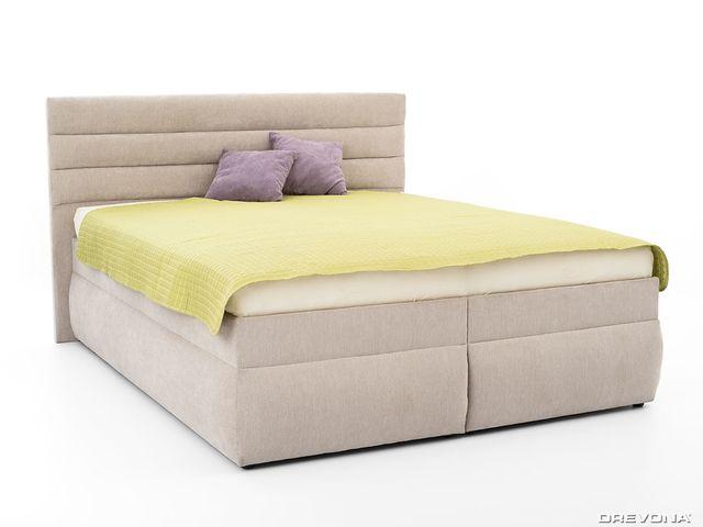 Manželská posteľ 160 cm šedo béžová LUNA 1, Orinoco 23