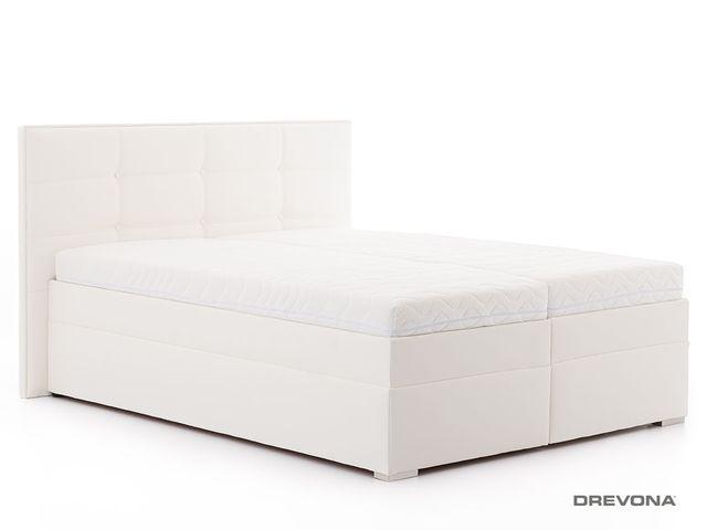 52675c444be1 Manželská posteľ 180 cm biela koženka IMERIA 2