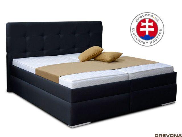 4cbb00d040b5b Manželská posteľ 180 cm čierna IMERIA 2 | DREVONA