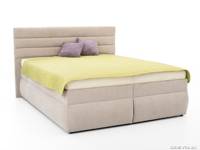 Manželská posteľ 180 cm šedo béžová LUNA 1, Orinoco 23