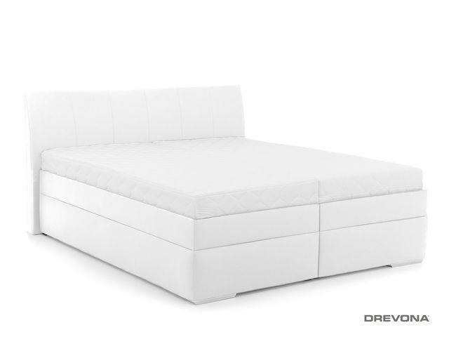 4ce759608fc70 Manželská posteľ 180 cm biela koženka LIPARI 2, M01 | DREVONA