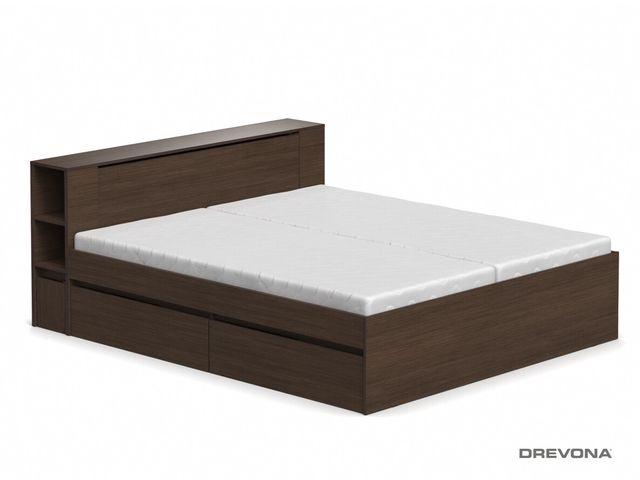 Manželská posteľ wenge 180 cm REA AMY