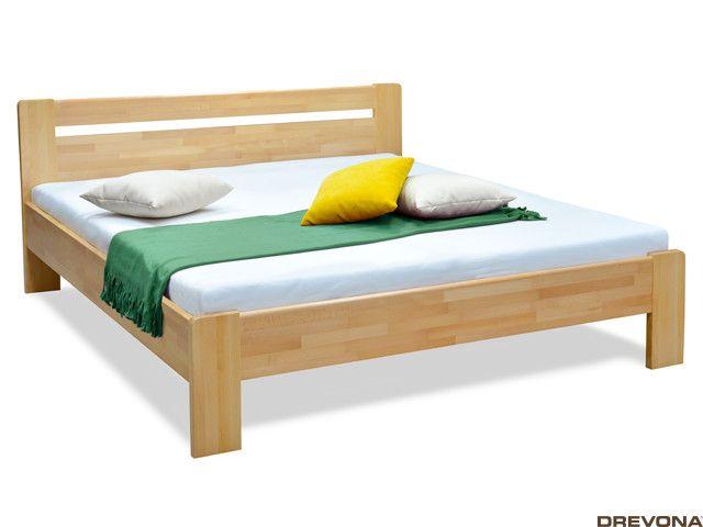 Manželská posteľ z masívu, buk 180x200 KARS