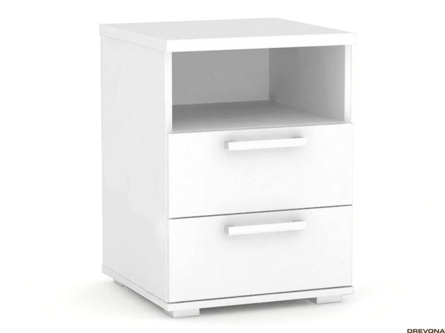 Nočný stolík biely REA OTTAWA UP NS2