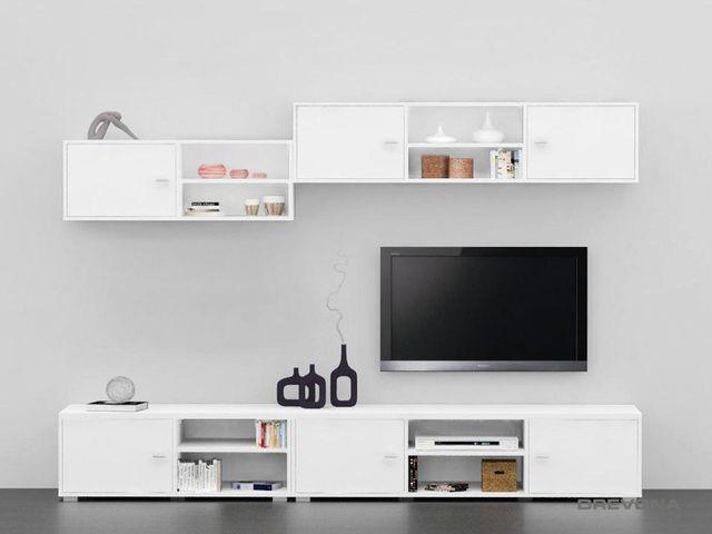 Obývacia stena biela REA DENISA UP č.2
