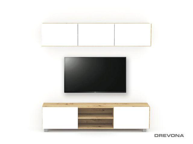 Obývacia stena - zostava Dub artisan biele dvierka TETRIS Z2 180 cm