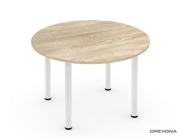 Okrúhly stôl Ø 120 dub bard. 4 nohy REA FLAT 4