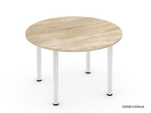 Okrúhly stôl dub bardolíno 4 nohy REA FLAT 4