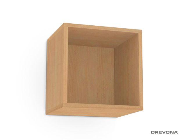 Otvorená skrinka buk REBECCA 6