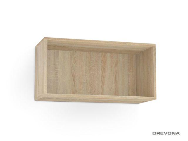 Otvorená skrinka dub bardolino REBECCA 7