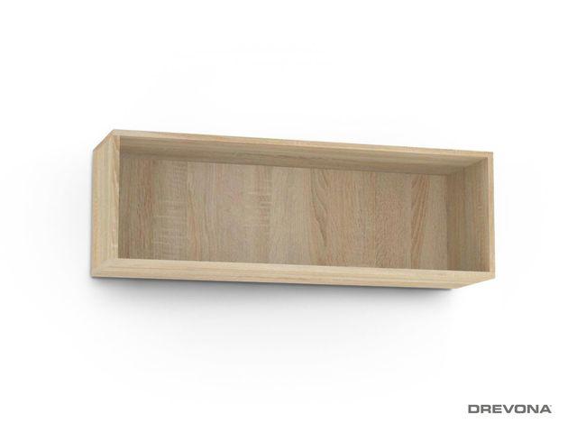 Otvorená skrinka dub bardolino REBECCA 8