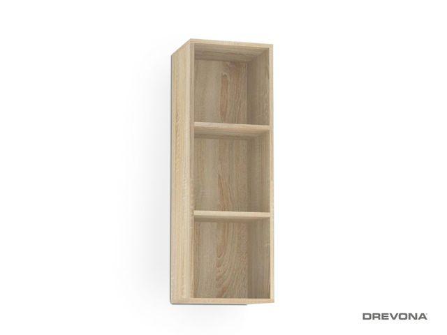 Otvorená skrinka dub bardolino REBECCA 10
