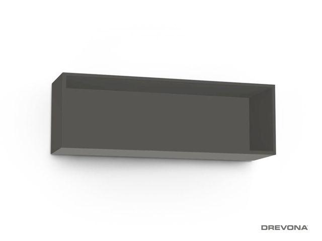 Otvorená skrinka šedá grafit REA REBECCA 8