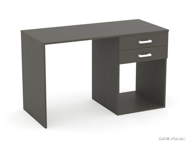 Písací stolík PC 120 cm šedý grafit REA SAM