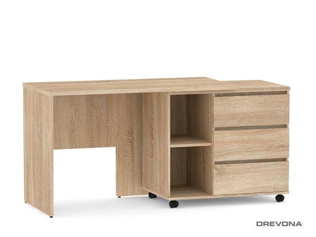 Písací stolík s otočným kontajnerom dub bardolíno REA ROY pravý