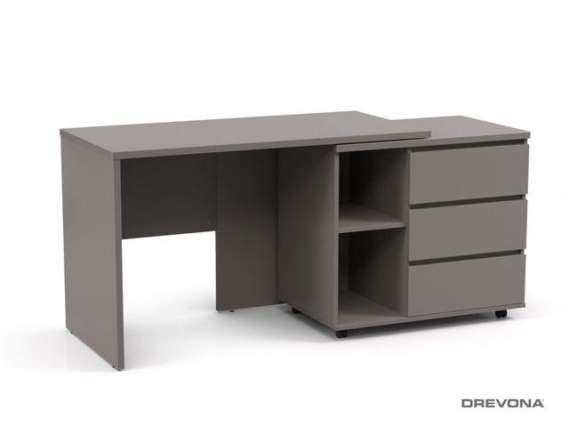Písací stolík s otočným kontajnerom šedý REA ROY pravý