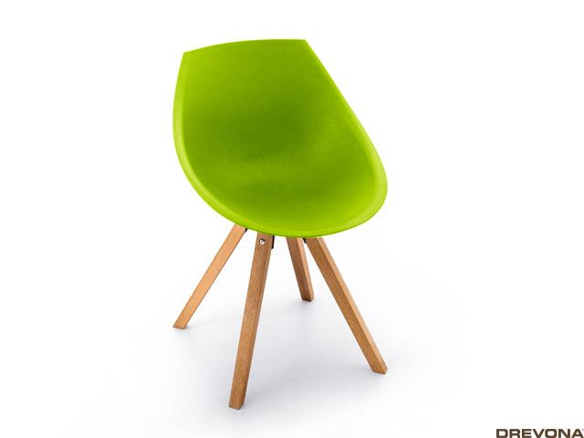 Plastová stolička kuchynská zelená GORKA
