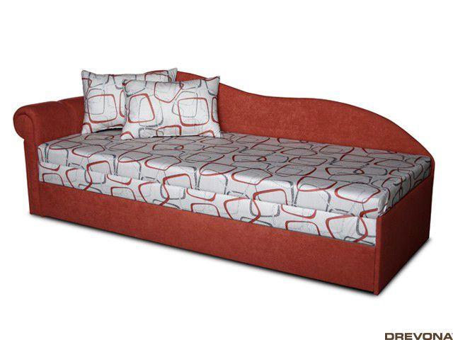 Pohovka na spanie ľavá tehlová GRACE
