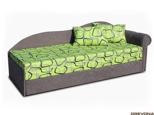 Pohovka pravá zeleno-sivá FUN