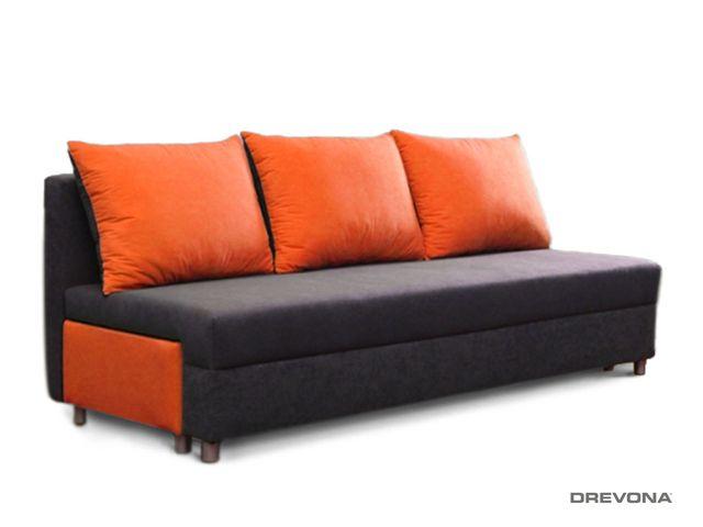 Rozťahovacia pohovka oranžovo-sivá EVELIN